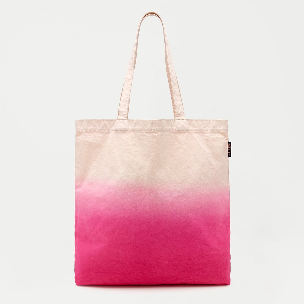 J.Crew Reusable Everyday Canvas Dip-Dyed Tote