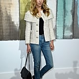 Clémence Poesy kept is simply chic in Chanel at the label's show.