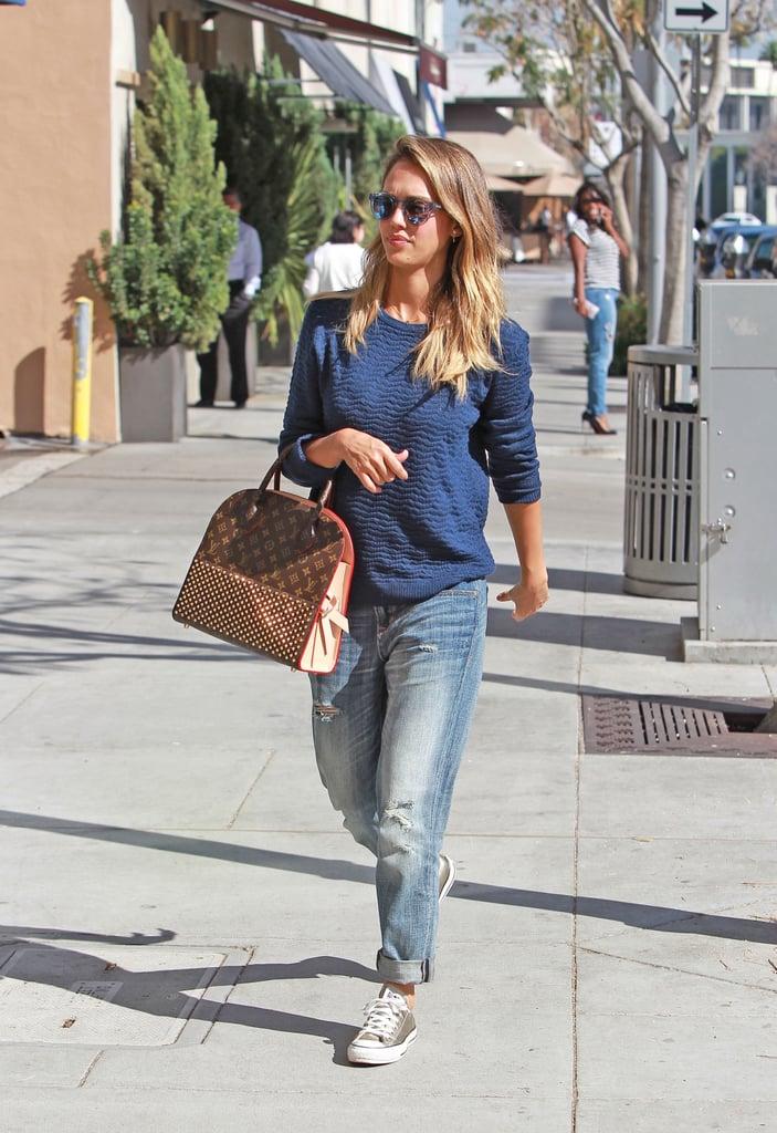Jessica Alba's Best Street Style of 2015