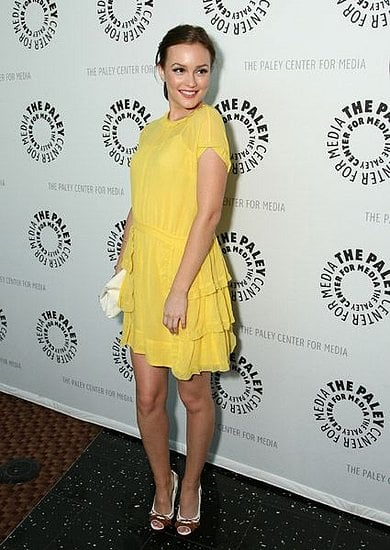 Leighton Meester at the Paley Festival with Gossip Girl castmates