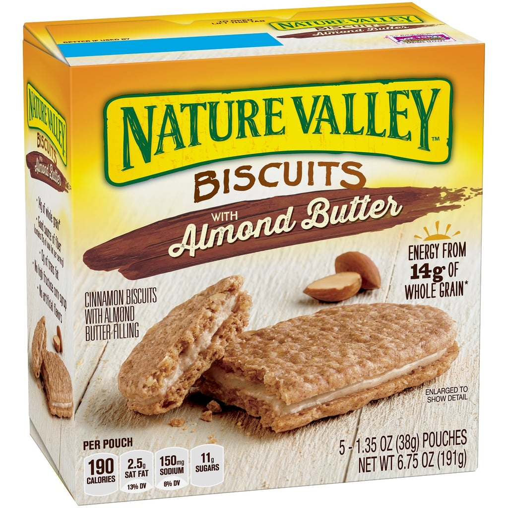 Peanut Butter and White Bread Sandwiches: Eat Nature Valley Biscuits With Almond Butter Instead
