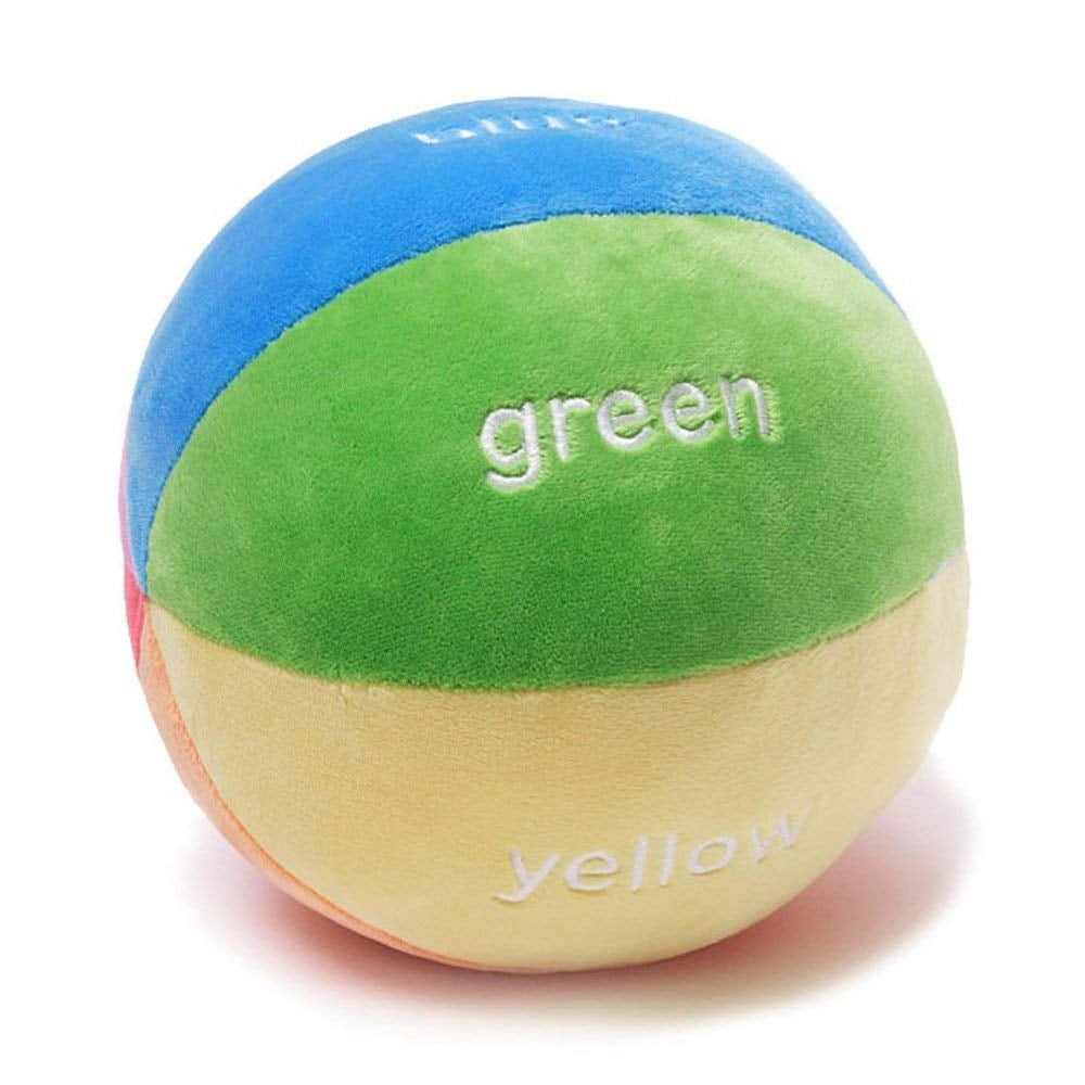 For Infants: GUND Color Fun Educational Stuffed Plush Rattle Ball