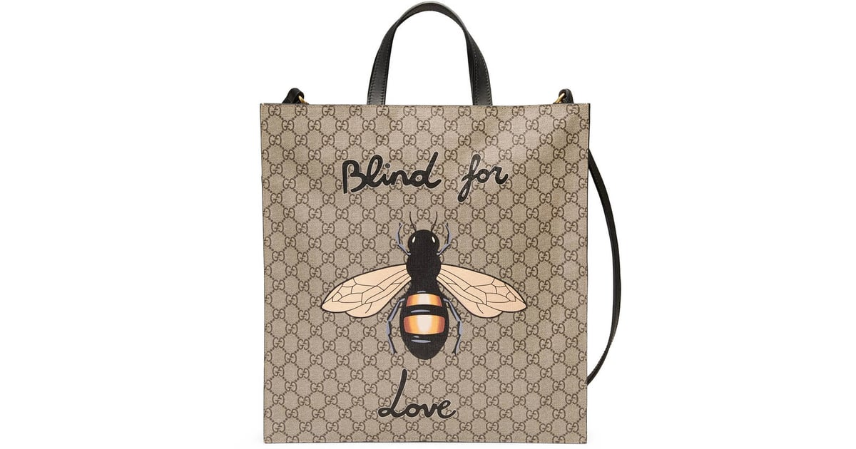 4b822dba0f0 Make a statement — literally — with this Gucci Bee print soft GG ...