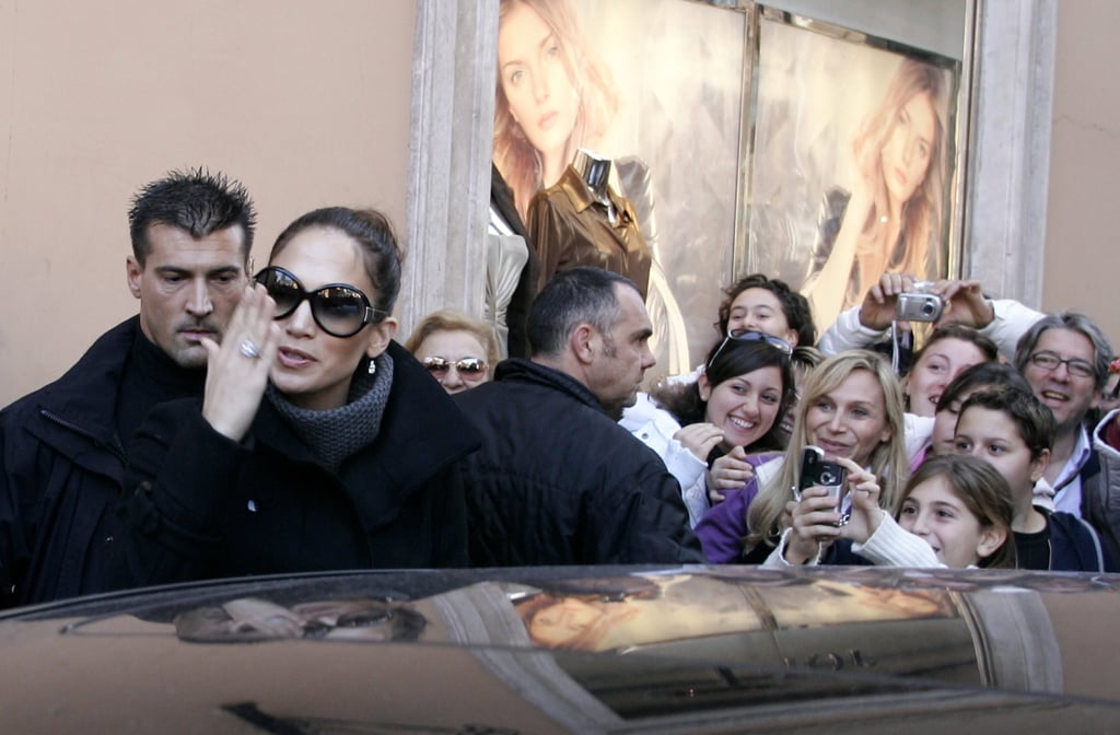 Jennifer Lopez left her hotel over the wedding weekend.