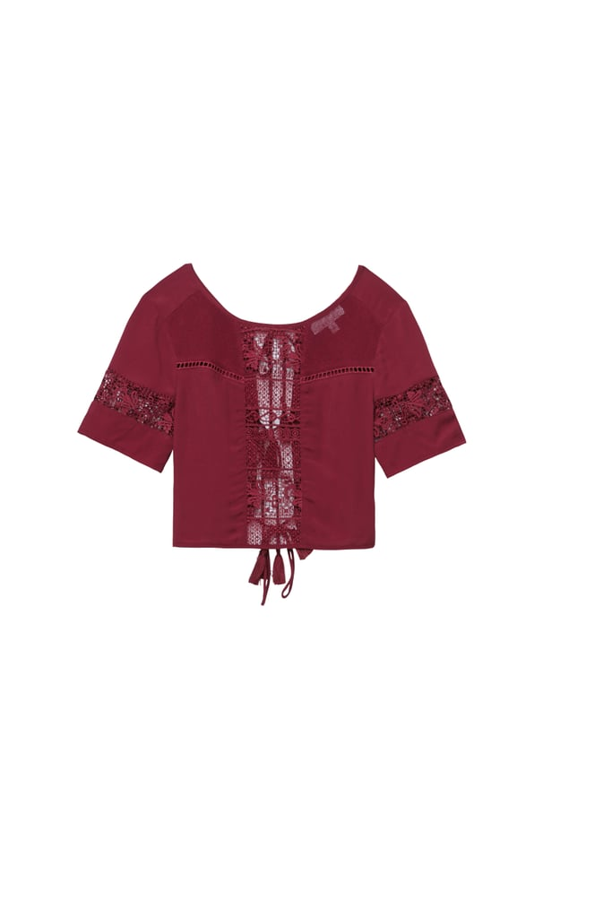 Kendall and Kylie x PacSun Mix Maroon Top