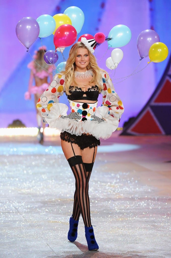 Toni Garrn walked on the runway.
