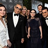 The Cast of Schitt's Creek at the 2020 Critics' Choice Awards