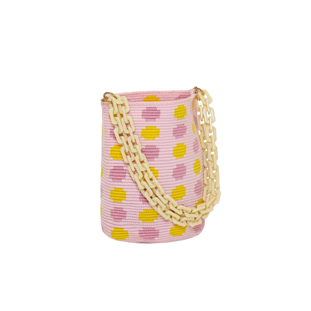 Soraya Hennessy Pastel Polka Midi Bag