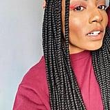 Look #1: Neon Eyeliner and Nude Lipstick
