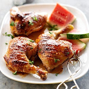 Recipe For Grilled Chicken With Watermelon Glaze