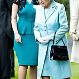 Princess Eugenie coordinated outfits with her grandmother at the Royal Ascot in 2012.