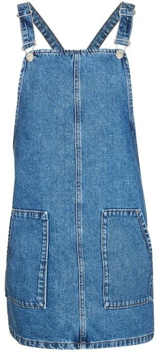 For a remix to your overalls, Topshop offers a moto pinafore dress ($68).