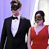 Now, in season three, Nathaniel is going to make his move. Peep the Christian Grey getup.