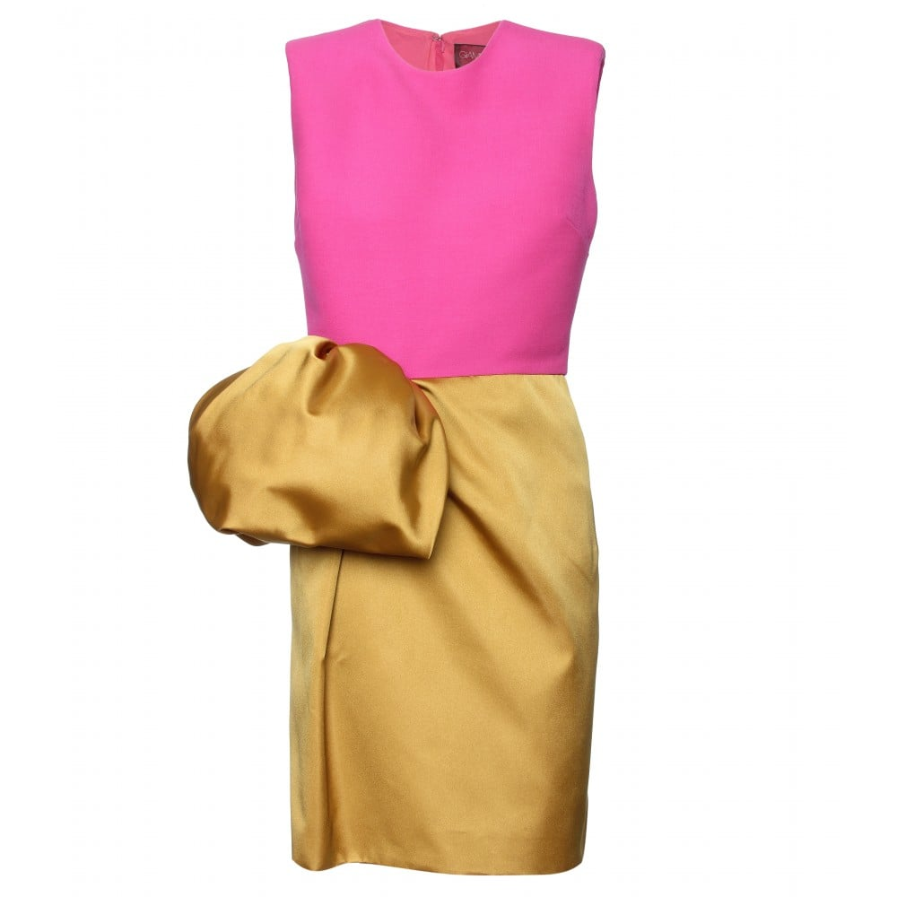 Show off your colorblocking prowess with a cool pink-and-gold iteration. Giambattista Valli Colorblock Cocktail Dress ($1,949)