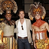 Matthew McConaughey saw The Lion King. Photos courtesy Joe Marzullo/Disney
