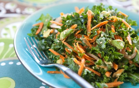 Kale, Carrot, and Avocado Salad
