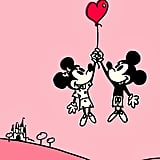 Mickey and Minnie Mouse in Love Wallpaper