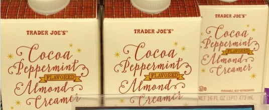 Trader Joe's Vegan Cocoa Peppermint Creamer