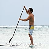 Orlando Bloom got active in the water.