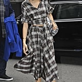 Zendaya was pretty in plaid while out on the street in New York City.
