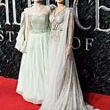 Elle Fanning and Angelina Jolie at the Maleficent: Mistress of Evil Premiere in London