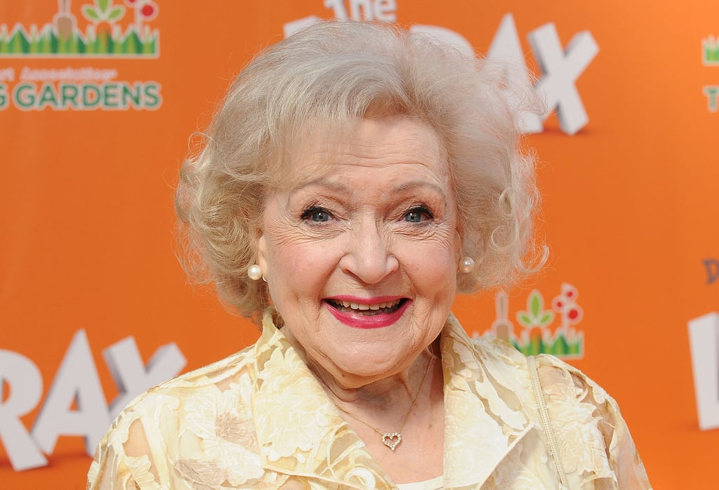 In 2012, Betty White Wore Her Signature Look: Pink Lips and Perfectly Curled Hair