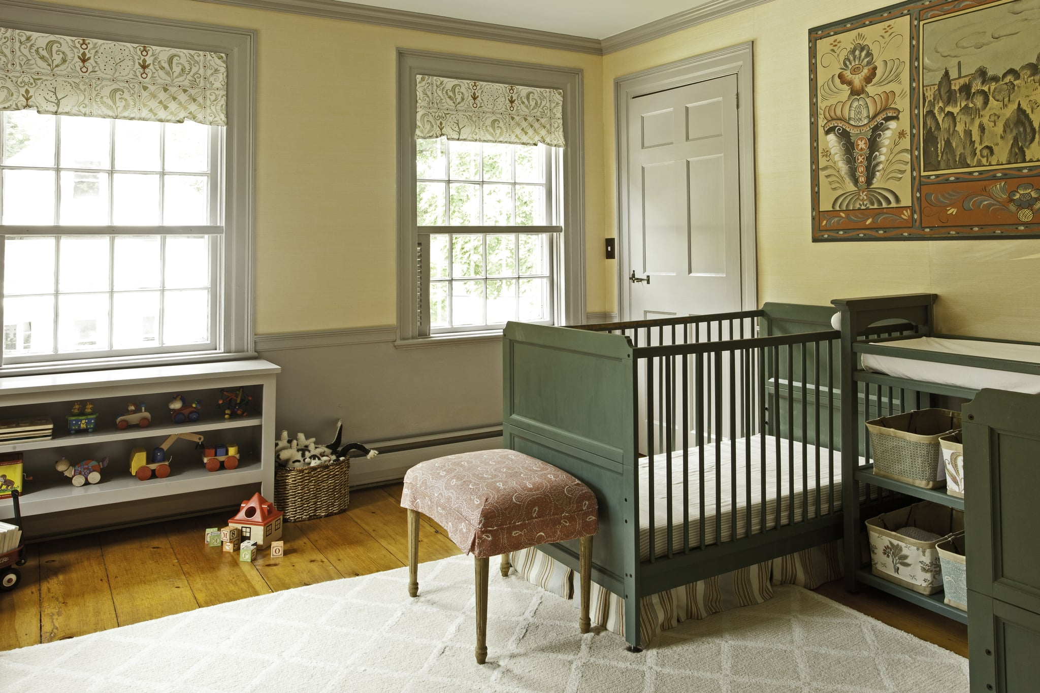 An Antique-y Nursery For Two