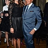 Princess Madeleine and Valentino Garavani posed ahead of his couture runway.