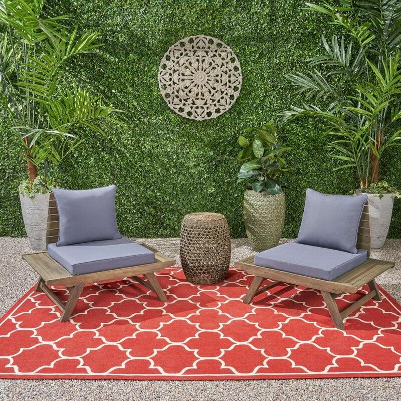 AllModern Bullock Patio Chair with Cushions