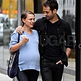 Natalie Portman and Benjamin Millepied Wait Out the Last Weeks Before Baby With Kisses