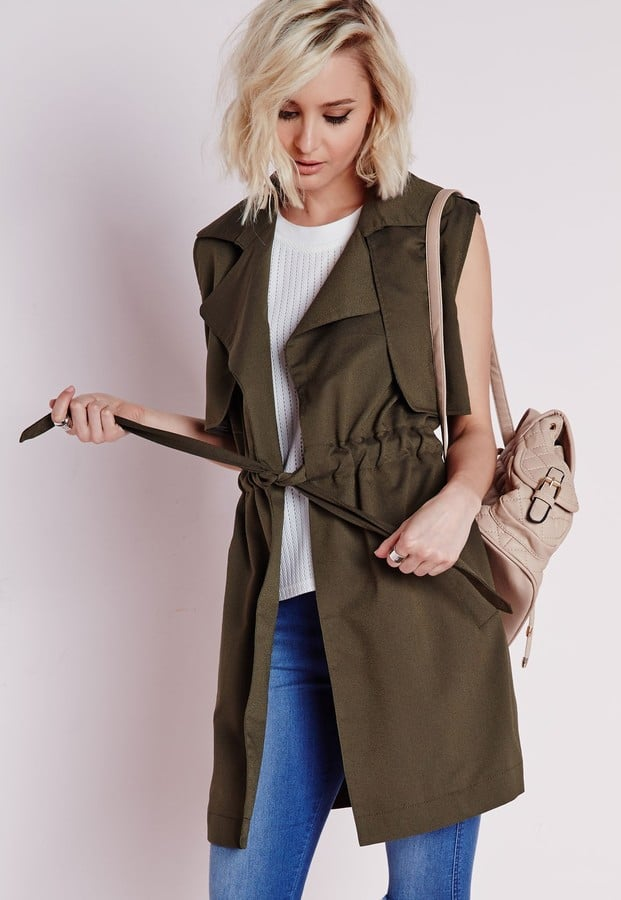 Missguided Lightweight Sleeveless Trench Coat