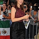 Jennifer Garner spent time with fans before appearing on Good Morning America.