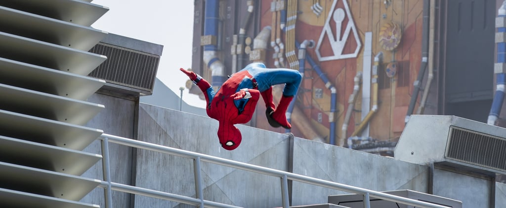 Flying Animatronic Spider-Man at Avengers Campus | Videos