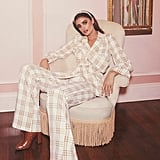Taylor Hill x Boohoo Wide Leg Checked Trouser