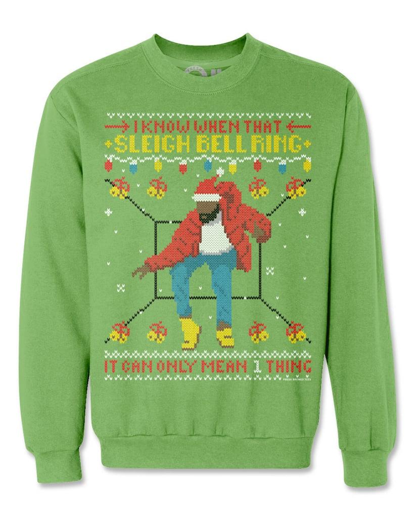 Hotline Sleigh Bell Ring Ugly Christmas Sweatshirt ($50) | Kim ...