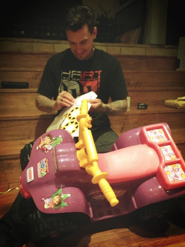 Pink and Carey Hart spent Christmas putting together toys. Source: Twitter user Pink