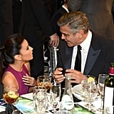 Eva Longoria and George Clooney chatted during the show.