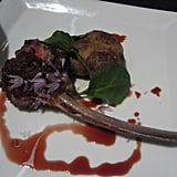 We were told not to judge the rack of lamb and just judge the crepenelle  — a wildly juicy and slightly salty lamb patty.