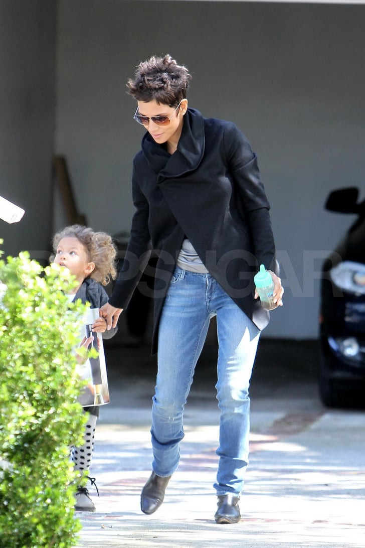 Pictures of Halle Berry and Nahla Aubry Out After Oscars