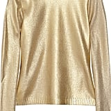 We'll be wearing a metallic gold pullover like Moschino's Wool-Blend Sweater ($265, originally $875) to cheer on our team this Sunday.