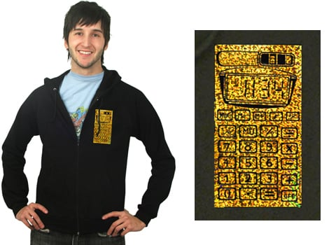 Gold Reflector Calculator Hoodie - My Geeky Valentine