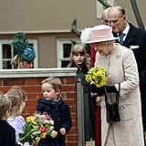 Queen Elizabeth II and her family attended Easter services in London on Sunday.