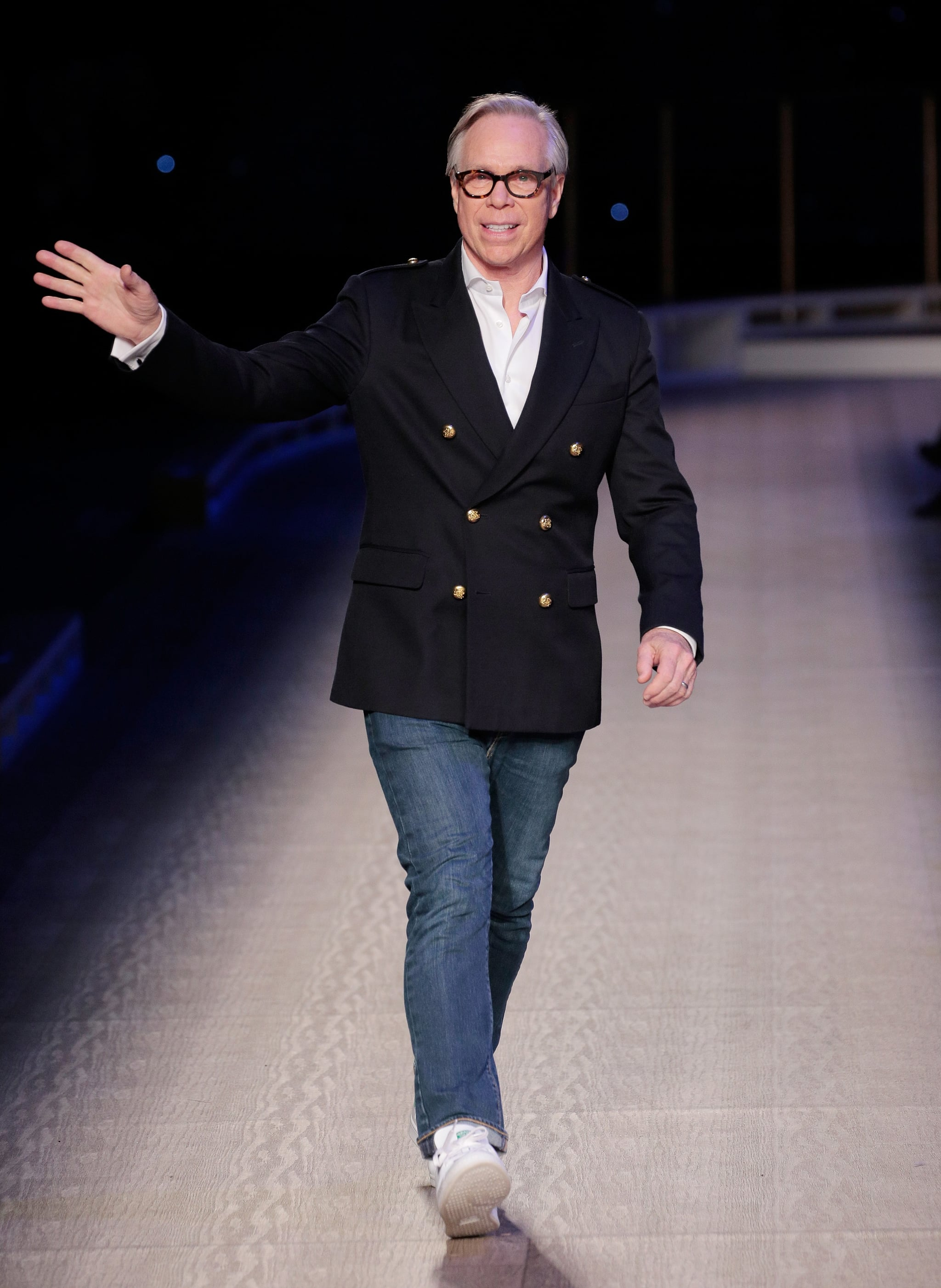 NEW YORK, NY - FEBRUARY 15:  Designer Tommy Hilfiger walks the runway during the Tommy Hilfiger Women's runway show during Fall 2016 New York Fashion Week at Park Avenue Armory on February 15, 2016 in New York City.  (Photo by Randy Brooke/Getty Images for Tommy Hilfiger)