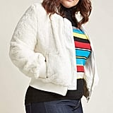 ModCloth A Fuzzy Thing Happened Bomber Jacket