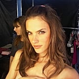 It's the last Victoria's Secret shoot of the year for Alessandra Ambrosio.