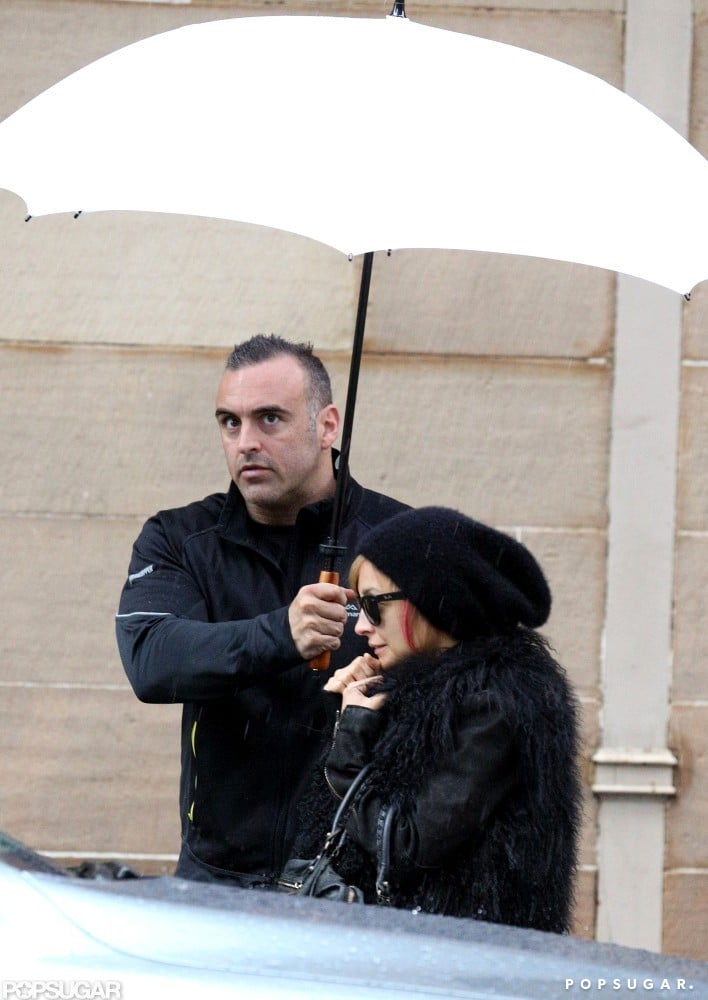 Nicole Richie was out and about in the rain in Australia.
