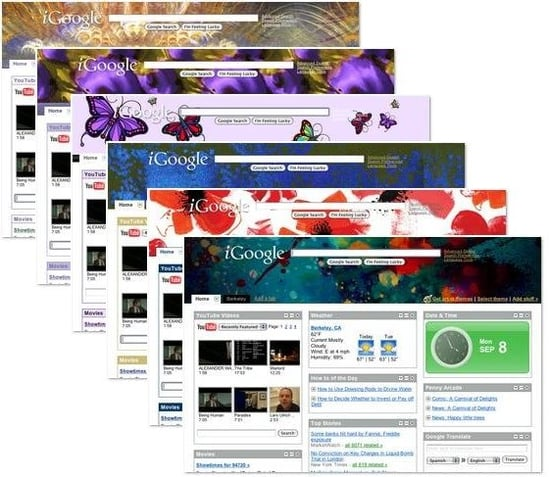 New iGoogle Designer Themes Continue to be Hot, Hot, Hot