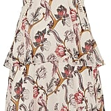 Whistles Bird Print Silk Tiered Dress