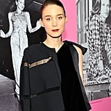 Rooney Mara knows what she likes, and her subtle eye makeup and moody purple lip didn't disappoint.