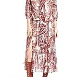Olivia Palermo + Chelsea28 Tie Neck Peasant Midi Dress ($138)